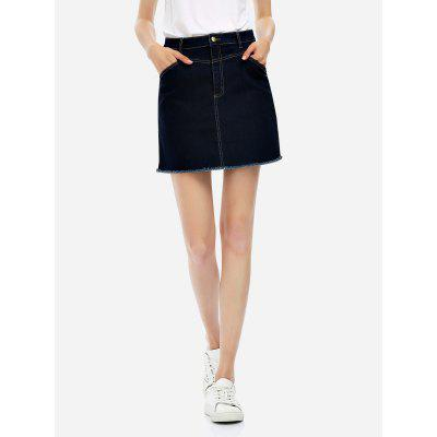 ZANSTYLE Women Cotton A Line Skirt