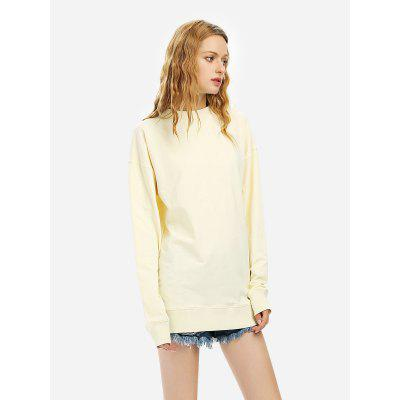 Women Beige Sweatshirt