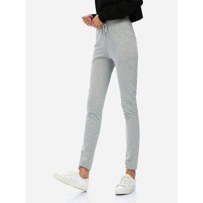 Men Heather Gray Sweatpants Joggers