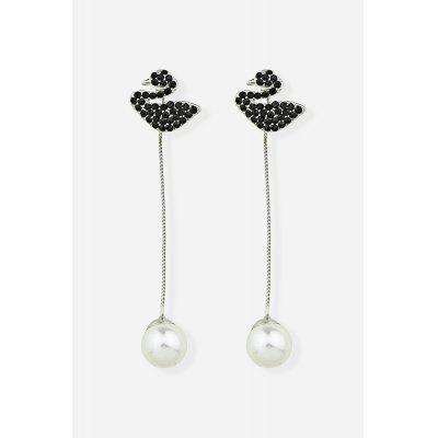 Fashionable Black Swan Dangle Earrings