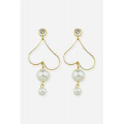 Love Heart Pearl Earrings