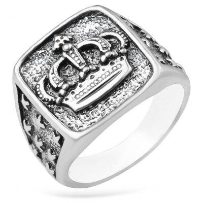 Alloy Crown Square Ring