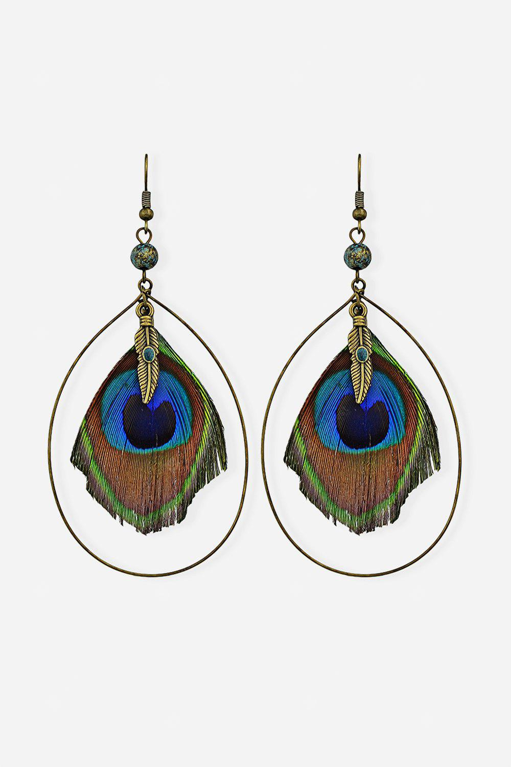 Earrings with Feather in Cycle