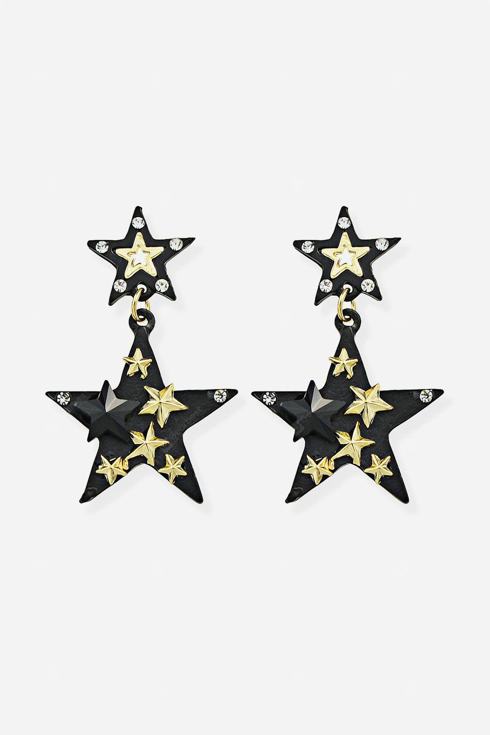 Pendant Earrings with Star Embedded