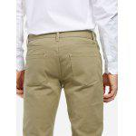 Stretch Knit Slim Fit Pants - KHAKI