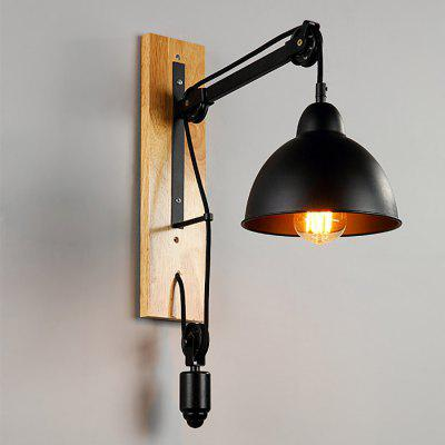 Creative Iron Lifting Pulley Wall Lamp Shade FixtureLiving room lighting<br>Creative Iron Lifting Pulley Wall Lamp Shade Fixture<br><br>Bulb Included: No<br>Package Contents: 1 x Wall Light Guard, 1 x Pulley, 1 x Bracket, 1 x Pack of Accessories<br>Package size (L x W x H): 47.00 x 31.00 x 24.00 cm / 18.5 x 12.2 x 9.45 inches<br>Package weight: 2.6200 kg<br>Product size (L x W x H): 20.00 x 20.00 x 21.00 cm / 7.87 x 7.87 x 8.27 inches<br>Product weight: 1.3550 kg<br>Quantity of Spots: 1<br>Shade Material: Iron<br>Type: Wall Light