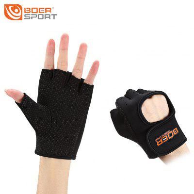 Pair of BOER Half-finger Anti-slip Sports Exercise Cycling Gloves