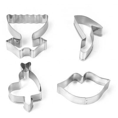 4PCS Stainless Steel Cookie Cutter