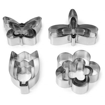 12PCS Stainless Steel Cookie Cutter