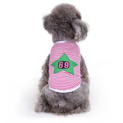 Star Stripe Cotton Pet Dog Clothes Tee Costume