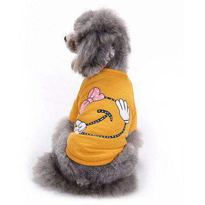 Bowknot Cotton Pet Clothes T-shirt Apparel Dog Tee