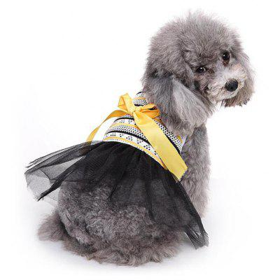 Bowknot Princess Skirt Pet Dog Clothes Tee Costume