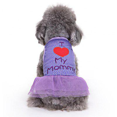 Princess Skirt Pet Dog Clothes Tee Costume
