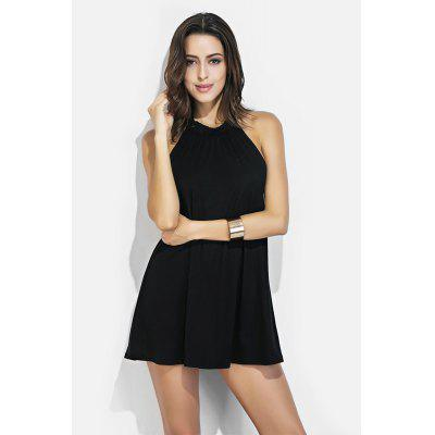 Halter Neck Mini Black Dress