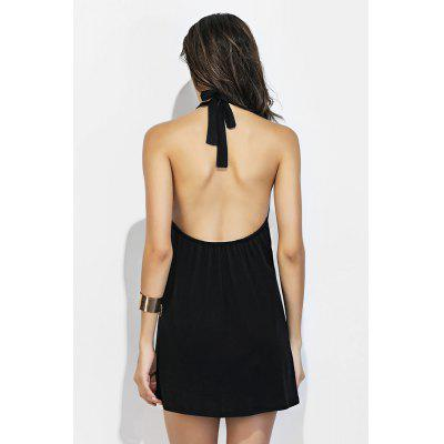 Halter Neck Mini Black DressMini Dresses<br>Halter Neck Mini Black Dress<br><br>Dresses Length: Mini<br>Material: Cotton, Polyester<br>Package Contents: 1 x Dress<br>Package size: 36.00 x 28.00 x 1.00 cm / 14.17 x 11.02 x 0.39 inches<br>Package weight: 0.1800 kg<br>Pattern Type: Solid Color<br>Product weight: 0.1500 kg<br>Season: Summer<br>Silhouette: A-Line<br>Style: Sexy<br>With Belt: No