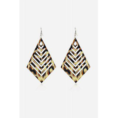 Stylish Rhombus Hollow Out Earrings
