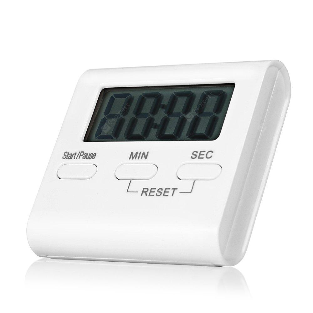 WHITE T 01 Digital 100min Kitchen Countdown Timer