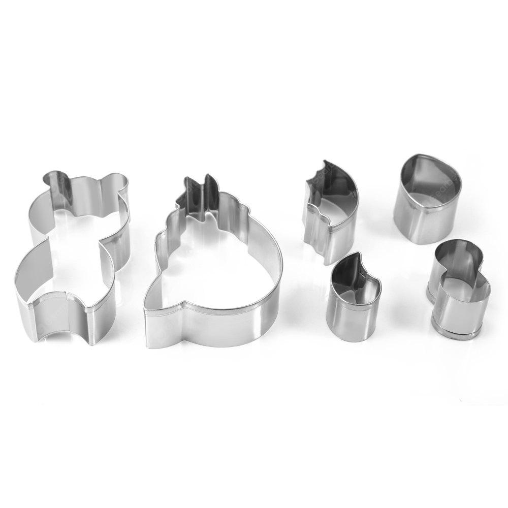 6PCS Stainless Steel Cookie Cake Cutter