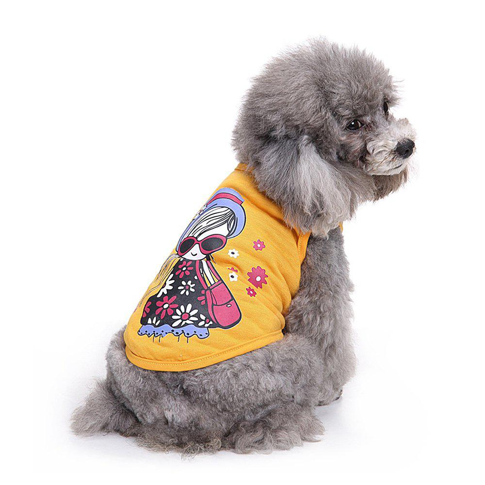 Fashion Girl Cotton Pet Dog Clothes Tee Costume