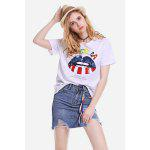 Cool Mouth Printed Tee - BRANCO