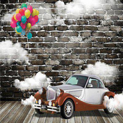 Car with Brick Wall Photography Background Cloth