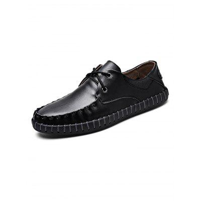 Lace-up Handmade Stylish Casual Leather ShoesMen's Oxford<br>Lace-up Handmade Stylish Casual Leather Shoes<br><br>Contents: 1 x Pair of Shoes<br>Materials: Leather<br>Occasion: Casual, Daily<br>Package Size ( L x W x H ): 34.00 x 23.00 x 12.00 cm / 13.39 x 9.06 x 4.72 inches<br>Package Weights: 0.93<br>Seasons: Autumn,Spring,Summer<br>Style: Leisure, Fashion, Comfortable<br>Type: Casual Shoes