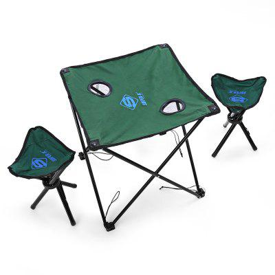 Buy GREEN SUPER K SFA43134 Polyester + Steel Folding Table / Chair Set for $35.02 in GearBest store