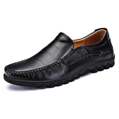 Fashion Cowhide Slip-on Men Casual Shoes