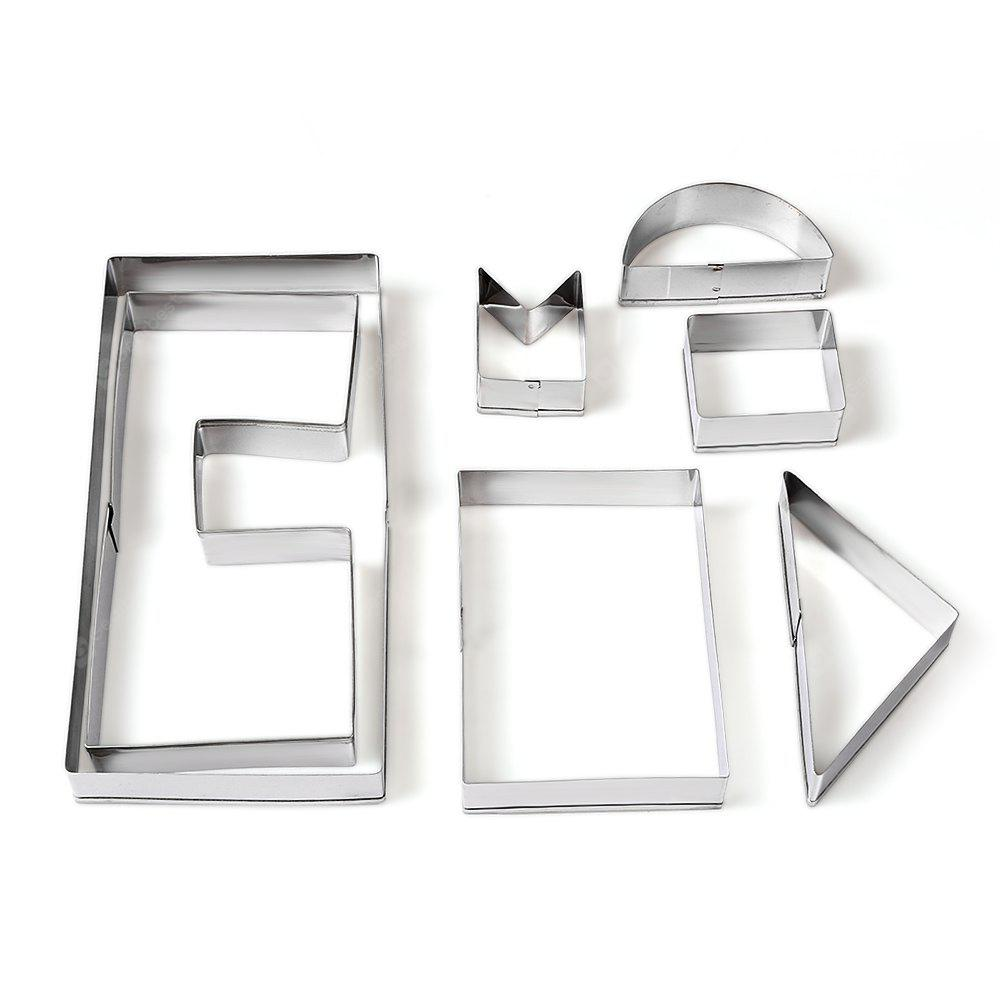 7PCS Christmas Cabin Stainless Steel Cookie Cutter