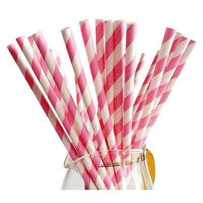 25PCS Disposable Biodegradable Paper Drinking Straw for Birthday Wedding Celebration Christmas Party