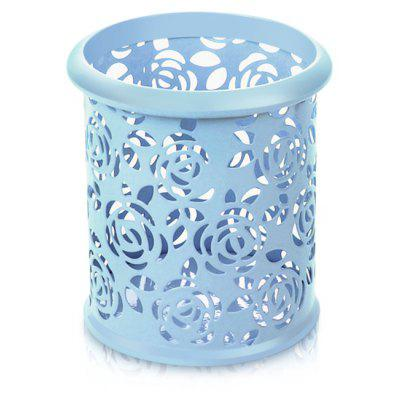 Hollow Rose Flower Design Pen Organizer Holder