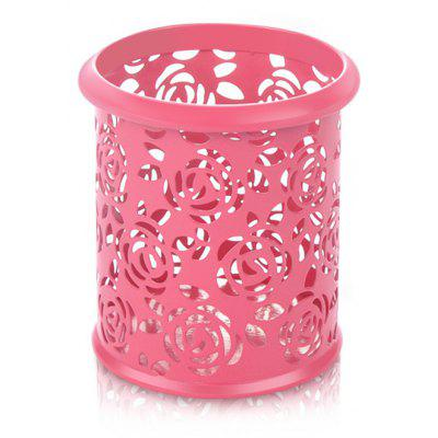 Hollow Rose Design Desktop Office Pen Storage Organizer Basket