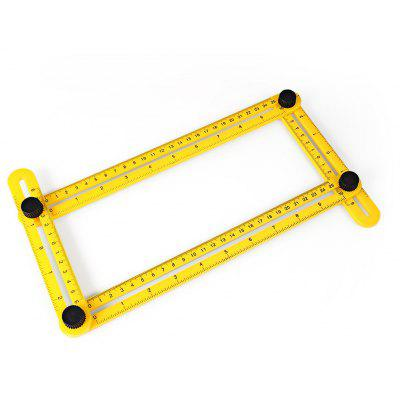 Angle-izer Template Tool Compact Multi-angle Ruler Square for Handyman Builder