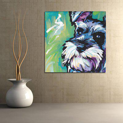 Schnauzer Printed Canvas Wall Sticker Wallpaper