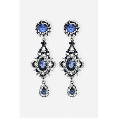 Stylish Rhinestone Dangle Earrings