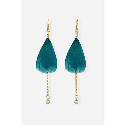 Pendant Earrings with Feather Pearl