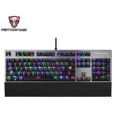 Buy BLACK Motospeed CK108 USB Wired Game Keyboard for $72.69 in GearBest store