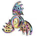 Tri-wing Rainbow Evil Eye Zinc Alloy Fidget Spinner