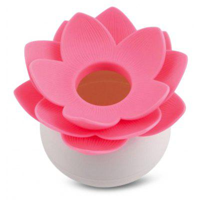 Lotus Flower Cotton Swab Q-tips Holder Toothpicks Storage Box for Home