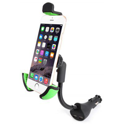 Car Charger Adapter Phone Stand Dual USB Mobile Holder