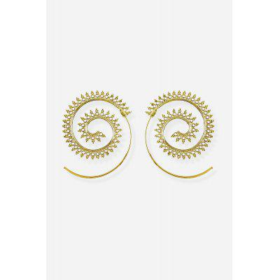 Ethnic Style Spiral Ear Drops EarringsEarrings<br>Ethnic Style Spiral Ear Drops Earrings<br><br>Fabric: Alloy<br>Package Contents: 1 x Pair of Eardrops, 1 x Gift Box, 1 x Pair of Eardrops, 1 x Gift Box<br>Package size (L x W x H): 5.00 x 8.40 x 2.40 cm / 1.97 x 3.31 x 0.94 inches<br>Package weight: 0.0250 kg<br>Product weight: 0.0080 kg<br>Style: Fashion<br>Type: Earrings