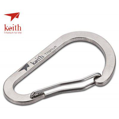 Keith Ti1170 Tough Titanium Alloy Carabiner Key Chain Buckle – SILVER