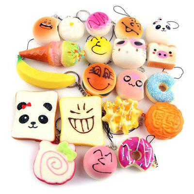 10PCS Slow Rising Soft Squeezing Charms Stress Release Toy 10pcs slow rising soft squeezing charms stress release toy
