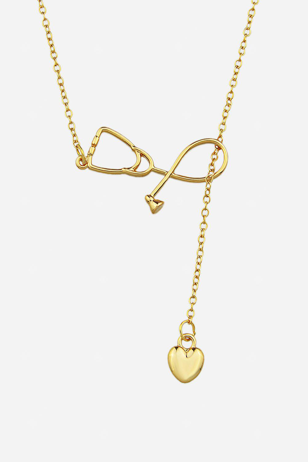 Concise Adjustable Heart Pendant Necklace