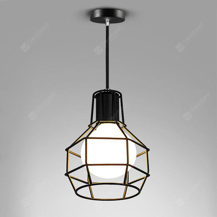 Hanging Pendant Light Iron Wire Caged Guard Lighting Fixture