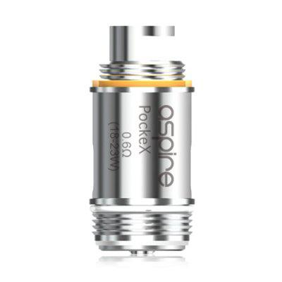 Aspire PockeX 0.6 ohm Atomizer CoilAccessories<br>Aspire PockeX 0.6 ohm Atomizer Coil<br><br>Brand: Aspire<br>Material: Stainless Steel<br>Package Contents: 5 x Coil<br>Package size (L x W x H): 11.30 x 4.40 x 2.00 cm / 4.45 x 1.73 x 0.79 inches<br>Package weight: 0.1100 kg<br>Product size (L x W x H): 2.90 x 1.20 x 1.20 cm / 1.14 x 0.47 x 0.47 inches<br>Product weight: 0.0120 kg<br>Resistance : 0.6 ohm