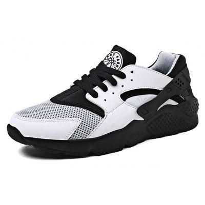 Outdoor Sports Mesh Lace up Men Running Shoes