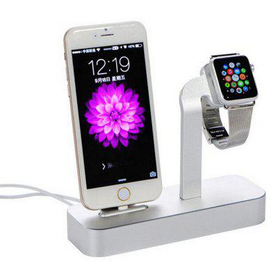 2-in-1 Phone Watch Charging Stand for iWatch 8 Pin USB Jack