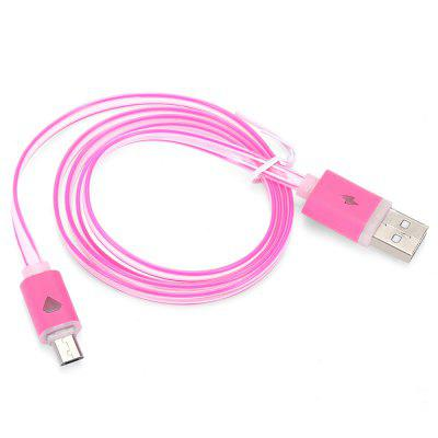1m LED Visible Light Micro USB Cable Flat Charging LineChargers &amp; Cables<br>1m LED Visible Light Micro USB Cable Flat Charging Line<br><br>Cable Length (cm): 100cm<br>Interface Type: Micro USB, USB 2.0<br>Material ( Cable&amp;Adapter): PVC<br>Package Contents: 1 x 100cm Micro USB Charging Cable<br>Package size (L x W x H): 15.70 x 11.40 x 1.80 cm / 6.18 x 4.49 x 0.71 inches<br>Package weight: 0.0390 kg<br>Product size (L x W x H): 100.00 x 1.50 x 0.80 cm / 39.37 x 0.59 x 0.31 inches<br>Product weight: 0.0150 kg<br>Type: Cable