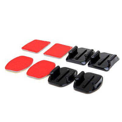 Flat and Curved Base Mount / Stickers for GoPro